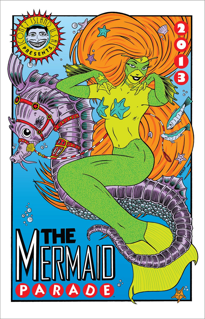 Frank-Kozik-Mermaid-Parade-Poster