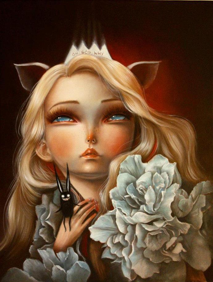 drama_queen__olio_su_tela