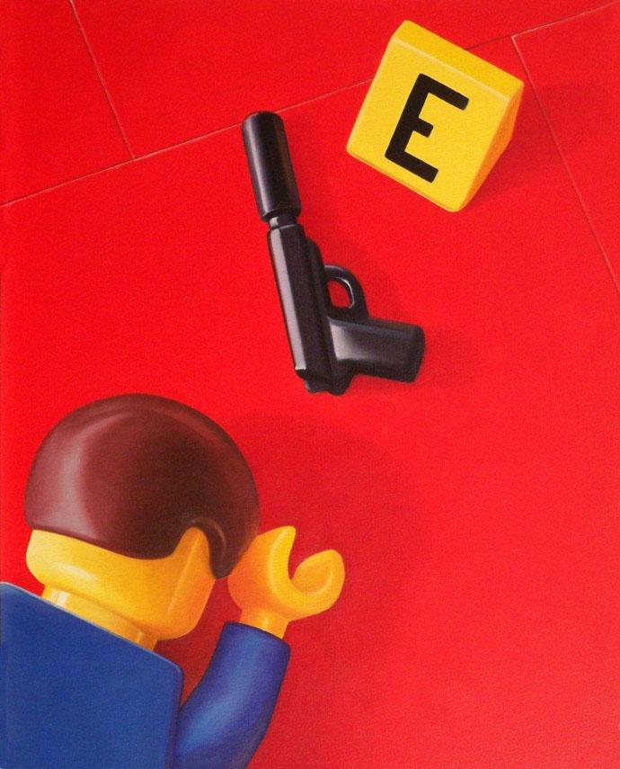 Crime scene (olio tela) 50x40