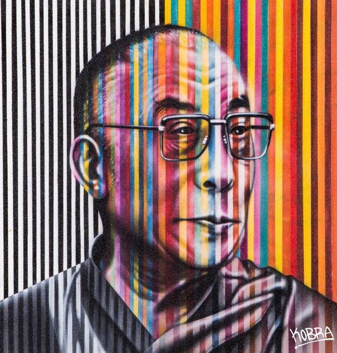Dalai-Lama_Eduardo-Kobra_Dorothy-Circus-Gallery