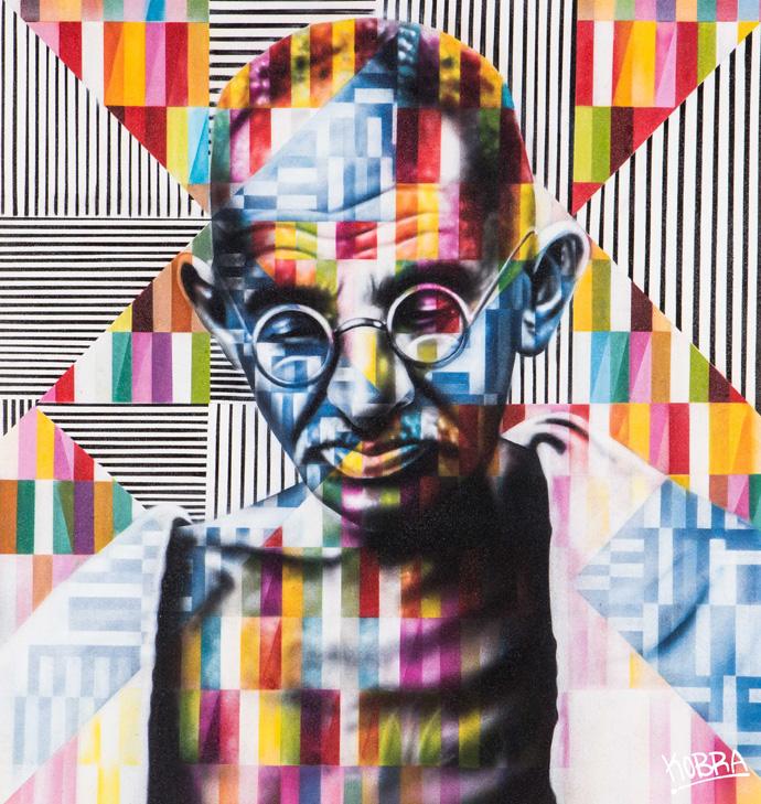 Ghandi_Eduardo-Kobra_Dorothy-Circus-Gallery