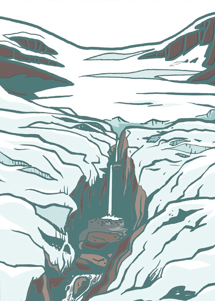 etant glacee
