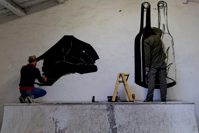 Basik e Luca Font negli spazi di Bonobolabo