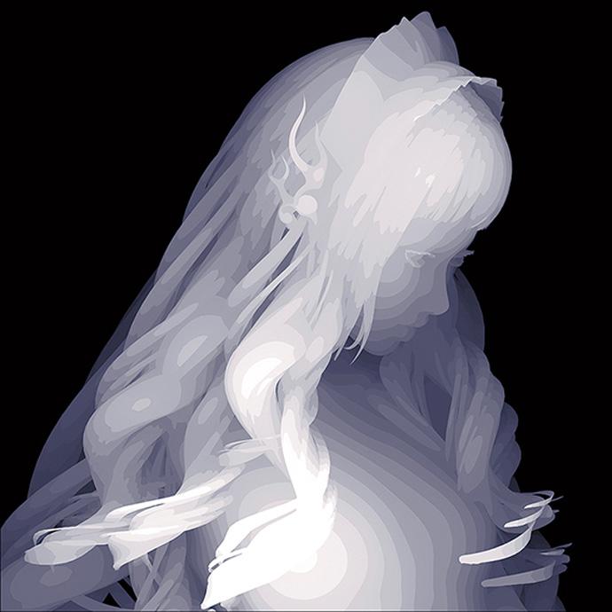 Kazuki-Takamatsu_Depression-2_33-x-33cm_acrylic,-acrylic-gouache,-medium,-gesso,-giclee-on-tarpaulin_dorothycircusgallery