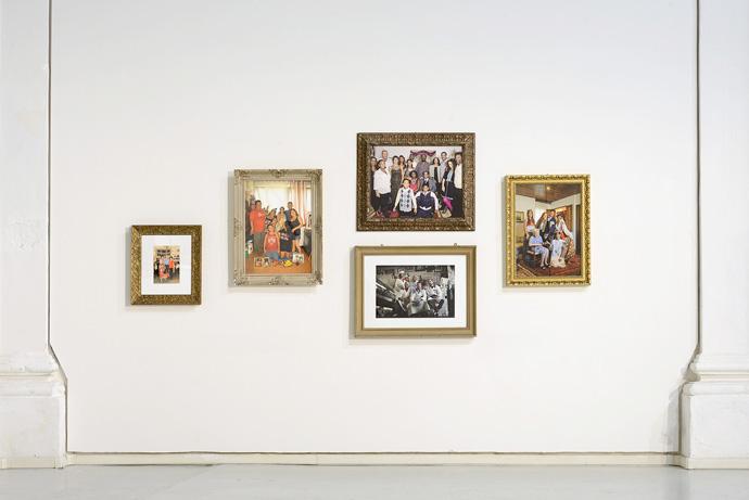 """Una delle pareti della mostra """"Ero figlia unica"""" al Centro Arti Visive Pescheria di Pesaro."""