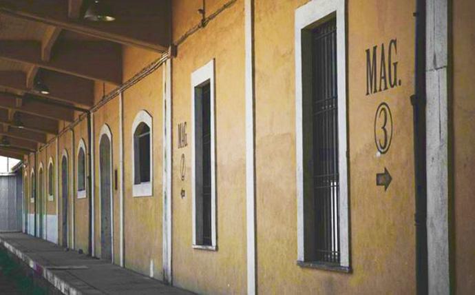 Uno scorcio dell'Ex Caserma di via Guido Reni a Roma.