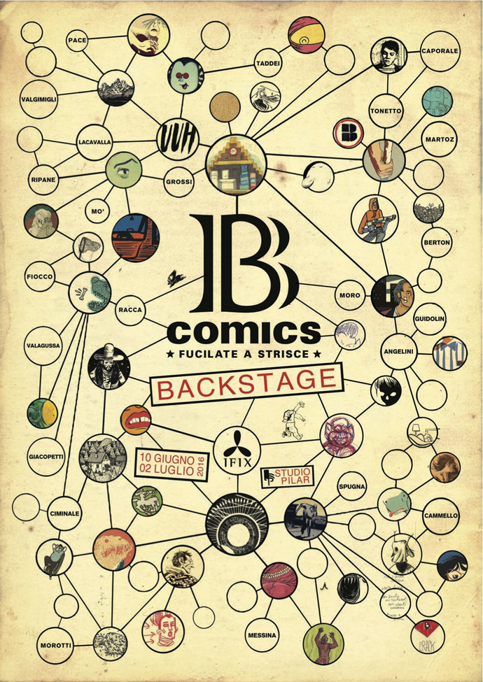 B comics - Backstage - la mostra