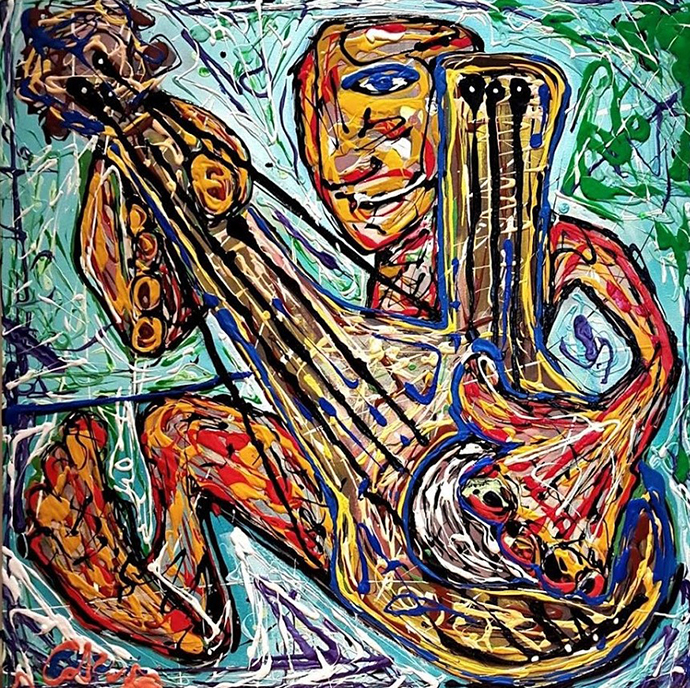 street-jazz-30x30-inches-mixed-media-on-canvas-2016-nyc