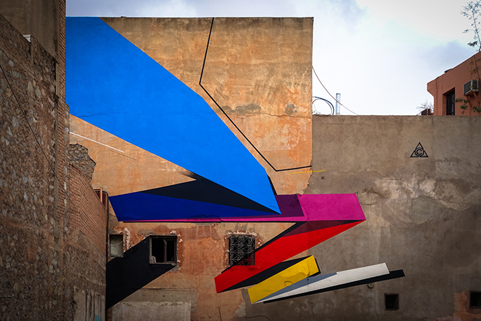 mural - remi rough for mb6 street art - marrakesh